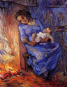 The Man is at Sea (after Demont-Breton), 1889, Vincent van Gogh Size: 66x51 cm Medium: oil on canvas