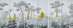 Western Scenics » Jefferson | Griffin & Wong chinoiserie wallpaper murals #topwall #drdwallpaper
