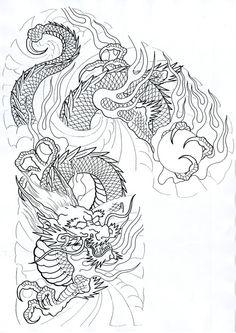 All About Art Tattoo Studio Rangiora. Japanese Tattoo Art, Japanese Dragon Tattoos, Japanese Tattoo Designs, Dragon Tattoo Art, Dragon Tattoo Designs, Dragon Art, Tattoo Studio, Tatouage Delta, Fawn Tattoo