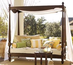 Outdoor day bed from Pottery Barn