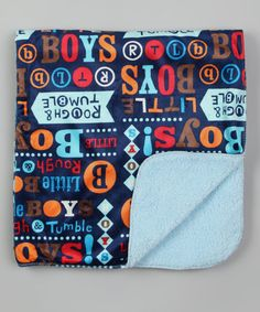 Take a look at this Blue Champ Baby Blanket by Tote Style: Diaper Bags & Gear on #zulily today!
