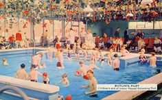 Children's end of indoor swimming pool Holiday Postcards, Vintage Postcards, Butlins Holidays, British Holidays, Holiday Day, East Yorkshire, Hotel Pool, Indoor Swimming Pools, Seaside