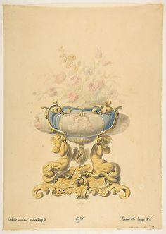 Design for a Porcelain Flower Bowl with Bronze Mount