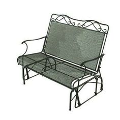 Wrought Iron Green Patio Double Glider-W3929-G-GR at The Home Depot