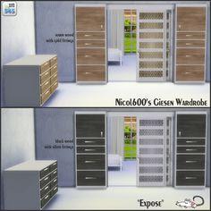 Nicol600's Giesen Wardrobe recolors at Loverat Sims4 via Sims 4 Updates