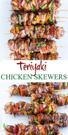 Summer Grilling Recipes 80317 These amazing Teriyaki Chicken Skewers with sweet and savoury Teriyaki Sauce are absolutely delicious. Tender Chicken, crunchy peppers and Onion, these grilled chicken skewers are perfect appetizers for your summer barbecue. Teriyaki Chicken Skewers, Sauce Teriyaki, Grilled Chicken Skewers, Grilled Chicken Recipes, Grilled Shrimp, Grilled Salmon, Salmon Recipes, Chicken Kabob Marinade, Sweet Onion Chicken Teriyaki Recipe