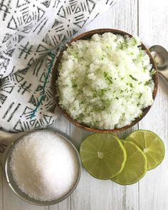 Treat your skin by making this amazing lime and sea salt scrub recipe. It smells incredible and has so many benefits, including acne treatment.