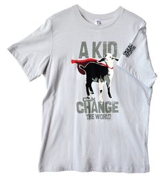 Great shirt!  A Kid Can Change the World Adult T-Shirt - Wear the Mission - Heifer International
