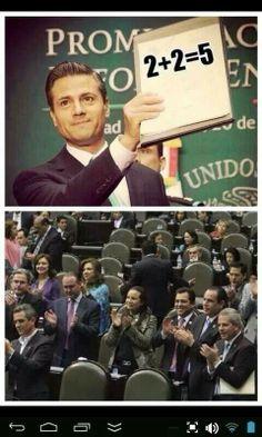 Esto refleja la realidad en Mexico , el PRIgobierno dice tonterias y los diputados/senadores dicen te apoyamos!