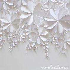 folded white paper hearts:
