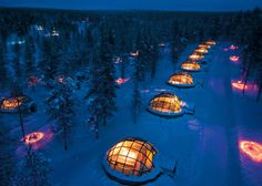 At the Kakslauttanen Arctic Resort in Finland, You Can Rent a Glass Igloo to Watch the Northern Lights