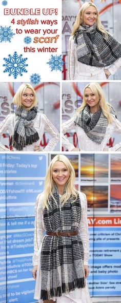 Get creative with your scarf this winter! Make it an accessory for any outfit with one of these four scarf tying ideas.