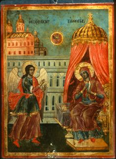 """""""Annunciation,"""" The Sinai Icon Collection Byzantine Icons, Byzantine Art, Photography Illustration, Art Photography, Constantine The Great, Icon Collection, Religious Icons, Angels And Demons, Orthodox Icons"""