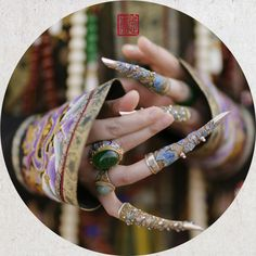 微博 Nail Guards, Chinese Makeup, China Movie, Chinese Hairpin, Dragon Girl, Chinese Patterns, China Art, Chinese Clothing, Oriental