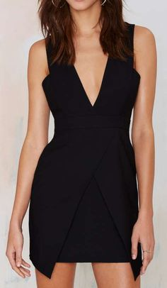 Finders Keepers Basic Instinct Plunging Dress