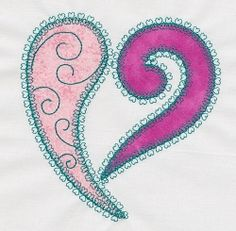 Accuquilt Go! HF Heart Single 2 - 5x7 | Quilt | Machine Embroidery Designs | SWAKembroidery.com VStitchDesigns
