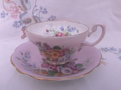 E Brain & Co Foley Cup and Saucer c1950s. Vintage Retro Tea Cup and Saucer Ideal Tea Shop Vintage Wedding by SwallowCAntiques on Etsy