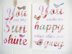 Another Etsy find, this one from KathyPanton. Love it for a nursery!