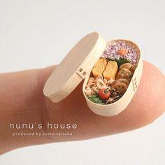 行楽に曲げわっぱ弁当如何ですか? #ミニチュア #miniature