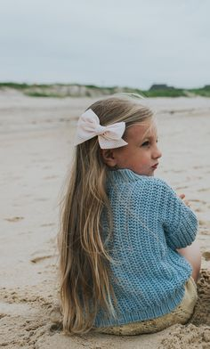 """A Day on the Coast"" Seersucker Collection. Handmade hair bows for her coastal adventures. The perfect accessory for your, baby, toddler or little girl and her free-spirited style."