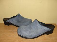 Dansko Women's Shoes Blue Nubuck Leather Open Back Clogs Slides Size 41/10-10.5 #Dansko #Clogs #CasualWeartowork