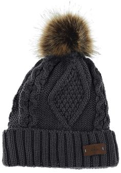 3c286aa4333 Women s Faux Fur Pom Pom Fleece Lined Knitted Slouchy Beanie Hat