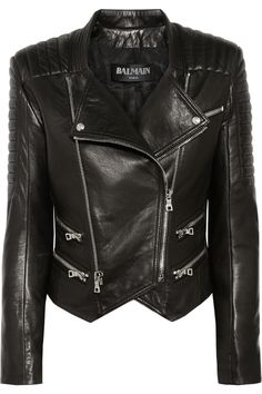 Balmain | Quilted leather biker jacket | NET-A-PORTER.COM $5,782