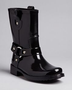 These are AMAZING! KORS Michael Kors Moto Rain Booties-Stormette http://loopd.ly/TtP3Ha