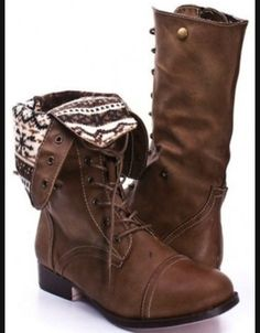 Brown combat boots womens