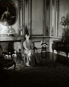 Consuelo Vanderbilt | Mme. Jacques Balsan, formerly Consuelo Vanderbilt, Duchess of Marlborough, in an ornate room (1946).