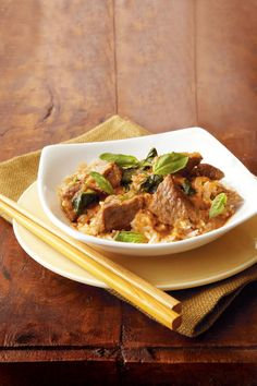 Thai Red Curry Beef - Lightened Up Slow-Cooker Recipes - Southernliving. Recipe: Thai Red Curry Beef