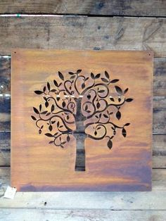 metal wall art, rust panel,: