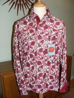 Man's handmade oneofakind western shirt in Liberty by dandyandrose, £95.00