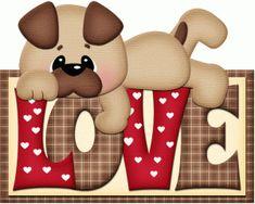 PUPPY DOG LOVE CLIP ART