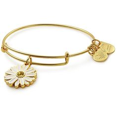 Alex And Ani Charity By Design Swarovski Crystal & Daisy Charm... ($38) ❤ liked on Polyvore featuring jewelry, bracelets, gold, charm jewelry, adjustable bangle, swarovski crystal bangle bracelet, swarovski crystal jewelry and bangle bracelet