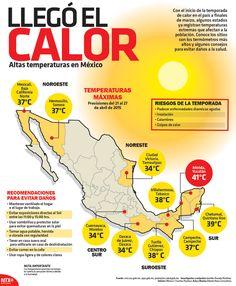Conoce los sitios con los termómetros más altos y algunos consejos para evitar daños a la salud.   #Infographic