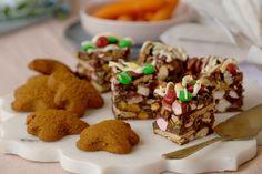 Christmas rocky road Christmas Snacks, Xmas Food, Edible Gold Glitter, Chocolate Marshmallows, Xmas Cookies, Rocky Road, Better Homes, Christmas Recipes, Sweet Recipes