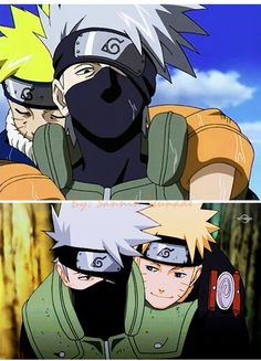 Naruto and Kakashi.
