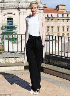 Beautiful in black and white: Australian Actress Elizabeth Debicki playsVictoria Vincigue...