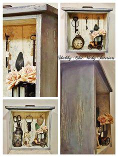 Creazione  vetrinetta mensola appendino Shabby Chic Vicky Interiors