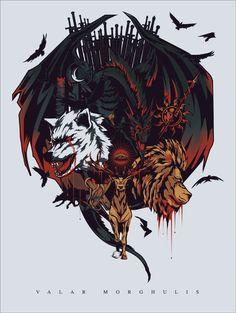 Game of Thrones // Valar Morghulis von Peter Gutierrez über Behance Game of Thr. Arte Game Of Thrones, Game Of Thrones Artwork, Game Of Thrones Poster, Game Of Thrones Fans, Valar Dohaeris, Valar Morghulis, Winter Is Here, Winter Is Coming, Game Of Trone