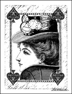 LaBlanche - Foam Mounted Silicone Stamp - Queen of Spades at Scrapbook.com