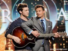 Phillip Phillips and Ryan Seacrest - American Idol