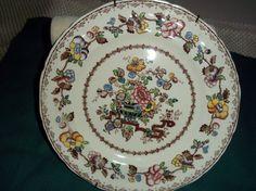 Vintage 1950's Mason's Ironstone Flower Plate. $8.00, via Etsy.