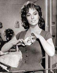 Gina Lollobrigida, Italy 1958 . #vintage . #celebrities