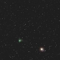 """On instagram by backyardastronomyguy #astrophotography #metsuke (o) http://ift.tt/1Pbj30J #US10 #Catalina by Philip Henson 1/2/2015. """"Comet US10 Calalina from Saturday morning on the 2nd of January from about 12 ISO800 182 seconds shots plus a couple of ISO3200 30 seconds anchor or placement frames. Not quite the dramatic image I was hoping for but considering the battle against the Moon and its flood of moonlight scatter so annoyingly near to  Arcturus and the comet I am probably lucky to…"""