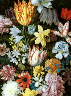 slojnotak: Ambrosius Bosschaert the Elder - A Still Life of Flowers in a Wan-Li Vase (1609-10)