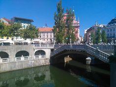 Triple Bridge in Ljubljana, Slovenia