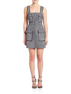 Kendall   Kylie Apron Gingham Mini Dress