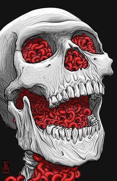 Excellent simple ideas for your inspiration Halloween Wallpaper Iphone, Skull Wallpaper, Halloween Backgrounds, Illustration Tumblr, Lips Illustration, Arte Horror, Horror Art, Totenkopf Tattoos, Skull Artwork